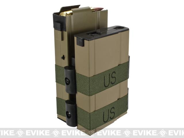 Matrix 750rd Electric Double Magazine for M14 Series Airsoft AEG Rifles - Tan