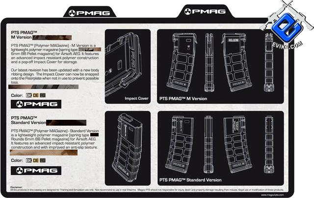 z Magpul PTS 75rd Mid-Cap PMAG for M4 M16 Series Airsoft AEG - Dark Earth (Box Set of 5)