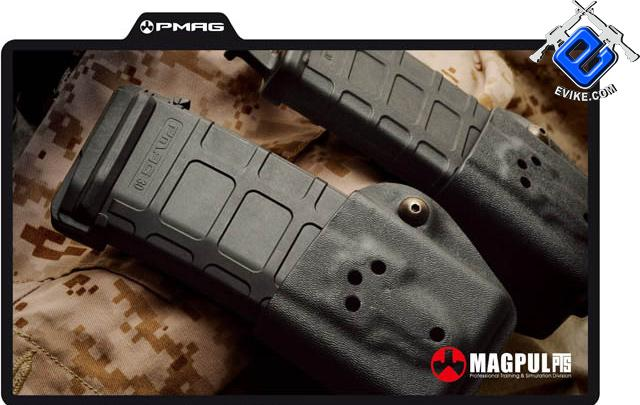 z Magpul PTS 75rd Mid-Cap PMAG for M4 M16 Series Airsoft AEG - Black (Box Set of 5)