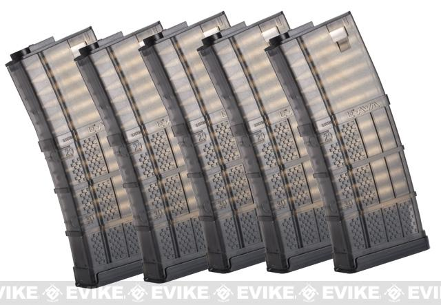 SOCOM Gear 190rd Lancer Systems Licensed L5 AWM Airsoft Mid-Cap Magazines - Set of 5