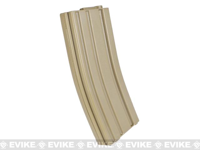 Elite Force 140rd Midcap Magazine for M4 / M16 Series Airsoft AEG Rifles - Dark Earth / Set of 10