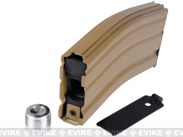 WE Spare Mag for OPEN BOLT WE M4 / SCAR / ASC / PDW Series Airsoft Gas Blowback Rifles (CO2 / Tan)