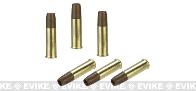 Spare Brass Shells for WinGun / Dan Wesson Series Airsoft Co2 Revolvers - Set of 6