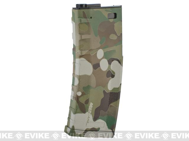 DYTAC 120rd Polymer Mid-Cap Magazine for M4 / M16 Series Airsoft AEG Rifles - Multicam