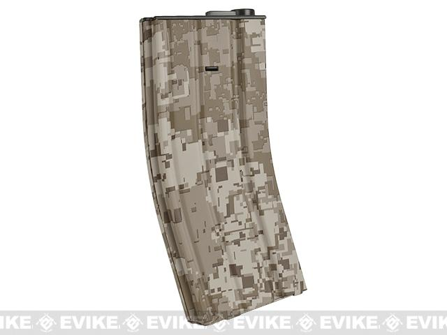 DYTAC 300rd Metal Hi-Cap Magazine for M4 / M16 Series Airsoft AEG Rifles - Digital Desert