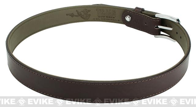 Magpul El Original Tejas Leather Gun Belt - Chocolate (Size: 32)