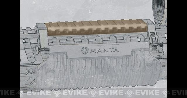 z MANTA 5 Tac-Wrap Top Rail Guard - Flat Dark Earth