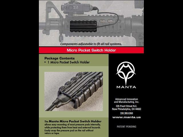 MANTA 2.75 Micro Pocket Switch Holder (Color: Flat Dark Earth)