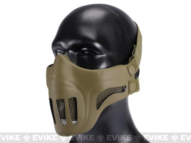 Matrix Metal Mesh Lower Half Mask with Soft Polymer Covering - Desert