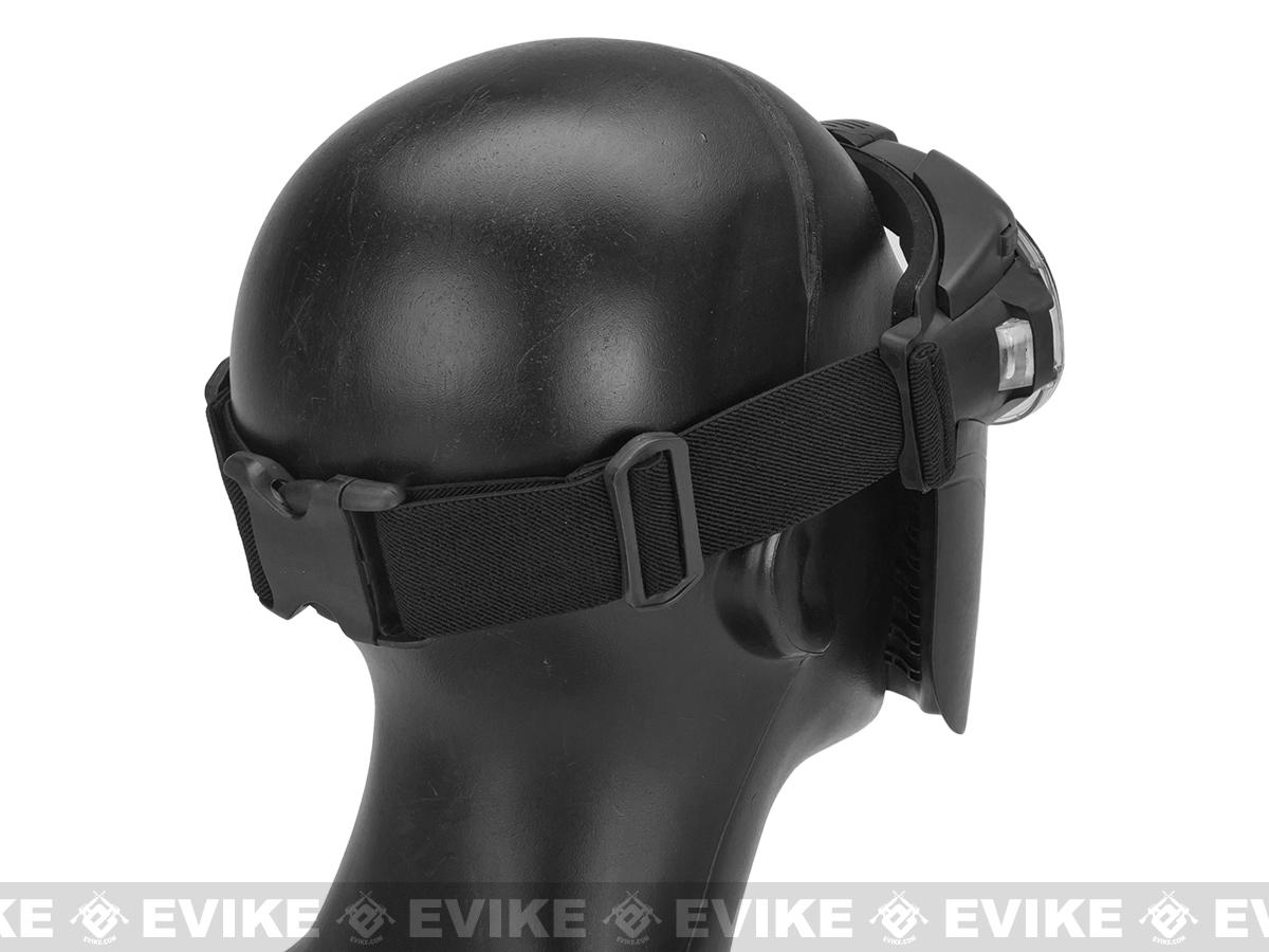 Pro-Goggle Airsoft Full Face Mask w/ Integrated Fan - Black