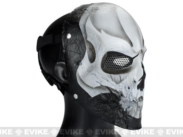 Evike.com R-Custom Fiberglass Wire Mesh 40D White Skull Mask Inspired by Army of Two