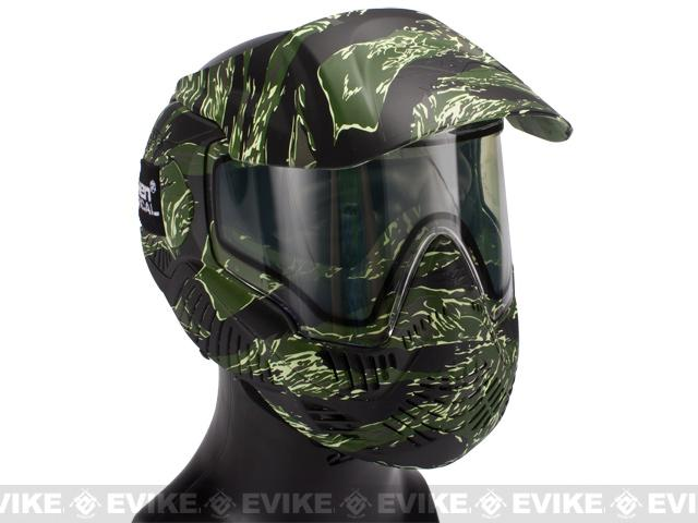 Annex MI-7 Full Face Airsoft Paintball Mask with Thermal Lens - Tiger Stripe