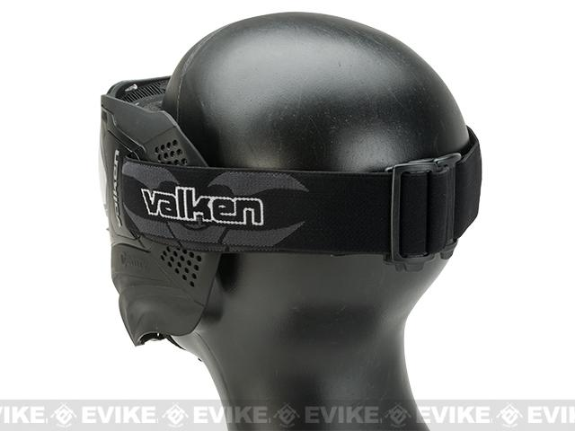Valken Identity Full Seal Paintball Goggles Black - Clear Lens
