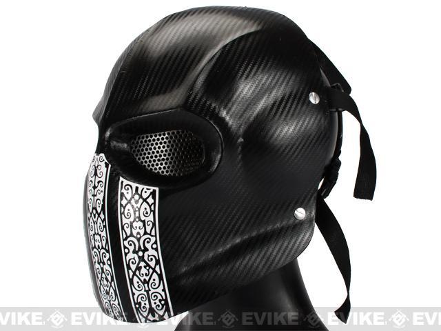 Evike.com R-Custom Fiberglass Wire Mesh Airsoft Army Mask - Code Name: Bravo Carbon Fiber