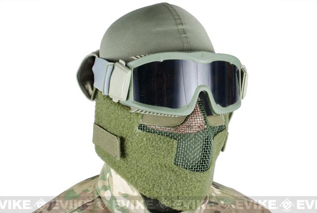 Matrix Iron Face Carbon Steel Striker Gen5 Metal Mesh Lower Half Mask - OD Green