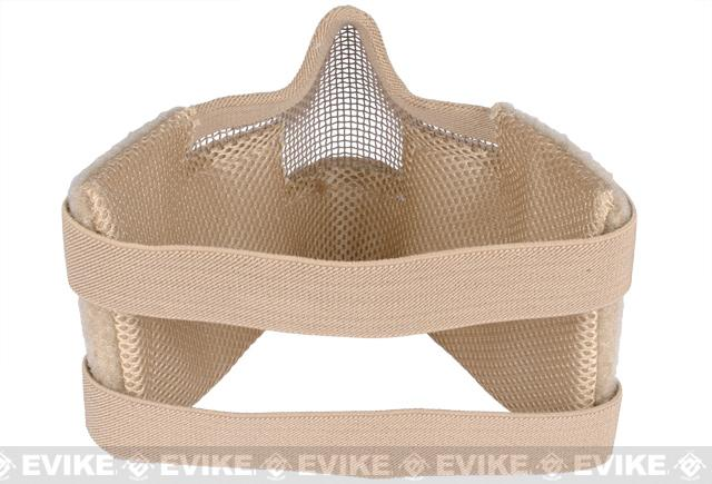 Matrix Iron Face Carbon Steel Striker Gen5 Metal Mesh Lower Half Mask - Desert Tan