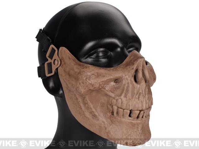 Avengers Skull Iron Face Lower Half Mask - Dried Bone Skeleton