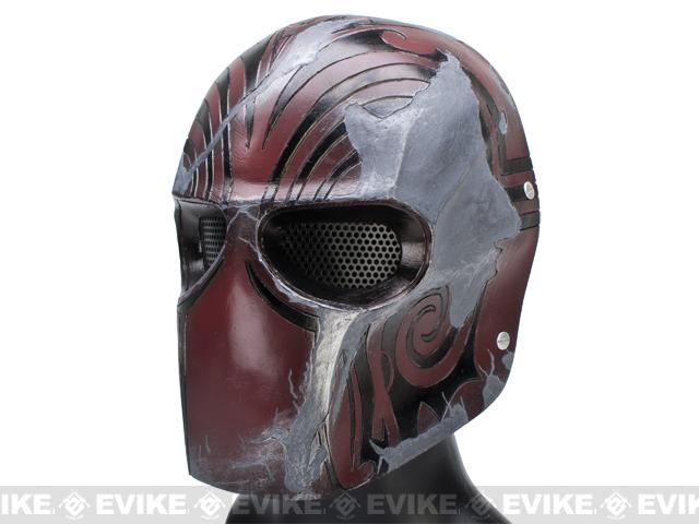 Evike.com R-Custom Fiberglass Wire Mesh Code Name: Bravo Mask - Brown