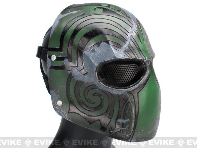 Evike.com R-Custom Fiberglass Wire Mesh Code Name: Bravo Mask - Green