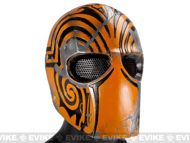 Evike.com R-Custom Fiberglass Wire Mesh Code Name: Bravo Mask - Orange