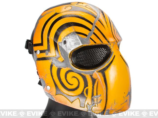 Evike.com R-Custom Fiberglass Wire Mesh Code Name: Bravo Mask - Yellow
