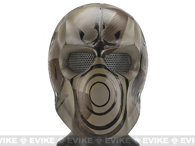 Evike.com R-Custom Fiberglass Wire Mesh Rios Trident Mask Inspired by Army of Two - Desert Camo