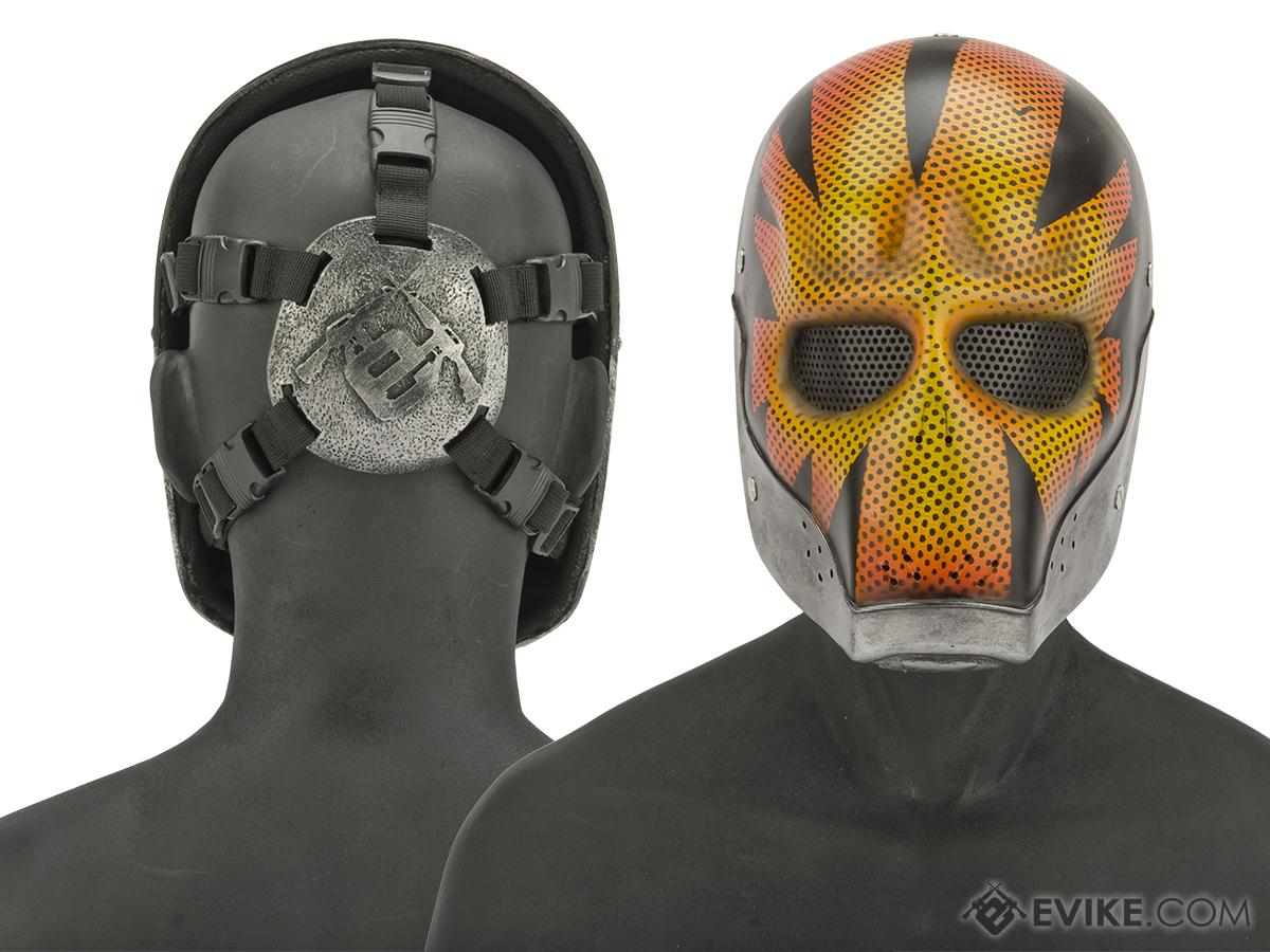 Evike.com R-Custom Fiberglass Wire Mesh Devil's Cartel: Tyson Rios Mask - Orange