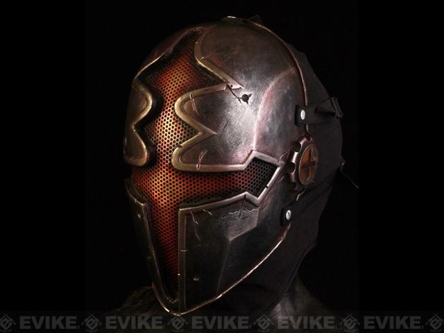 Evike.com R-Custom Fiberglass Wire Mesh Red Paladin Mask Inspired by Hellgate