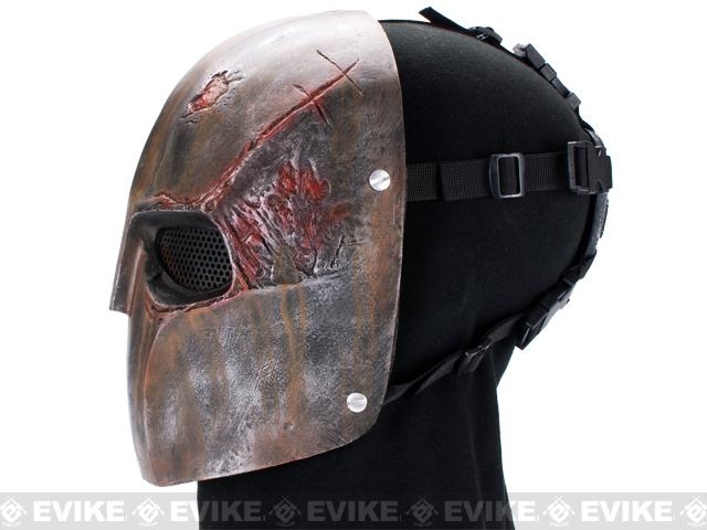 Evike.com R-Custom Fiberglass Wire Mesh Rios Burnt Mask Inspired by Army of Two