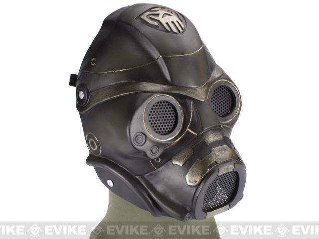Evike.com R-Custom Fiberglass Wire Mesh Spectre Mask Inspired by Starcraft - Green / Gold