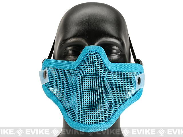 Matrix Iron Face Carbon Steel Mesh Striker V1 Lower Half Mask - Blue