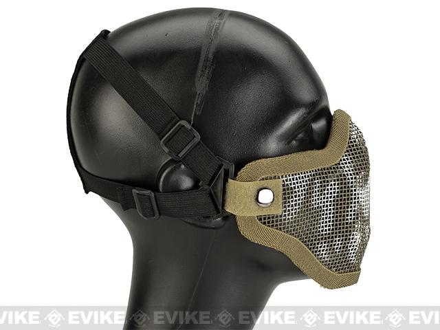 Matrix Iron Face Carbon Steel Mesh Striker V1 Lower Half Mask - Desert Skull