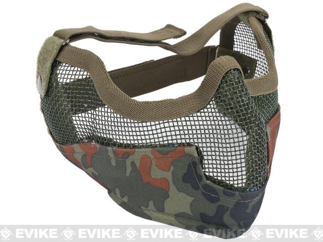 Matrix Iron Face Carbon Steel Striker Gen2 Metal Mesh Lower Half Mask - Flecktarn