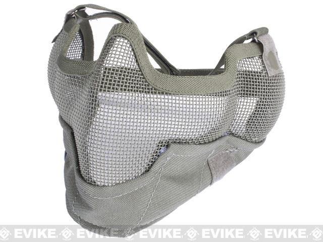Matrix Iron Face Carbon Steel Striker Gen2 Metal Mesh Lower Half Mask - Ranger Gray