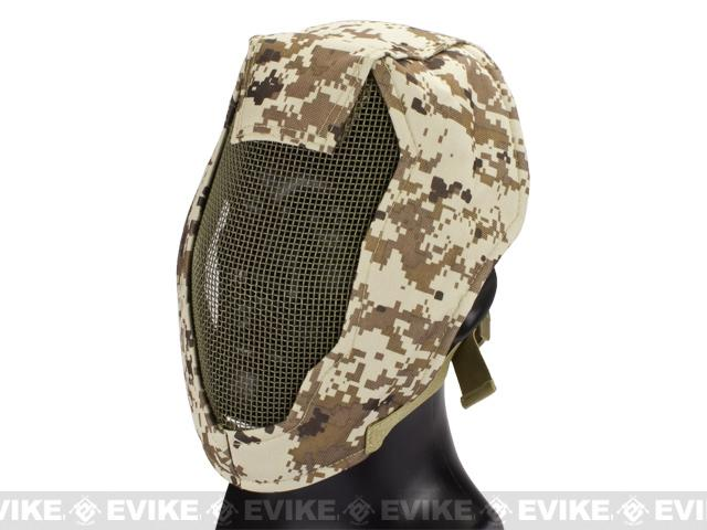 Matrix Iron Face Carbon Steel Striker Gen4 Metal Mesh Full Face Mask - Digital Desert