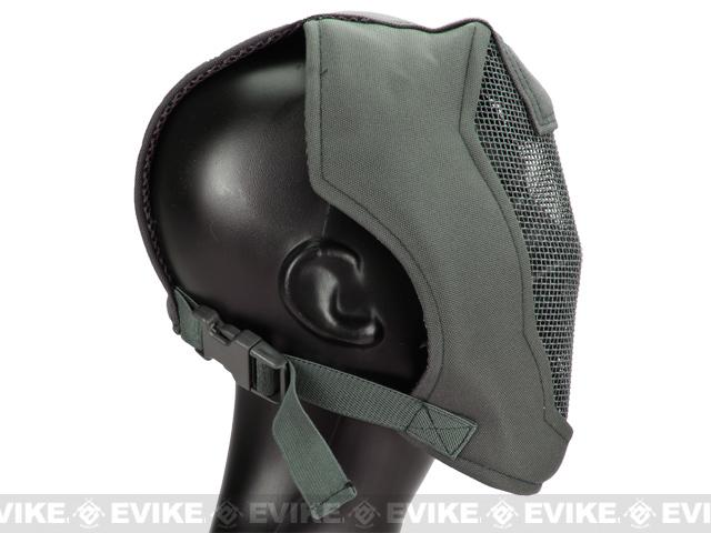 Matrix Iron Face Carbon Steel Striker Gen4 Metal Mesh Full Face Mask - Ranger Green