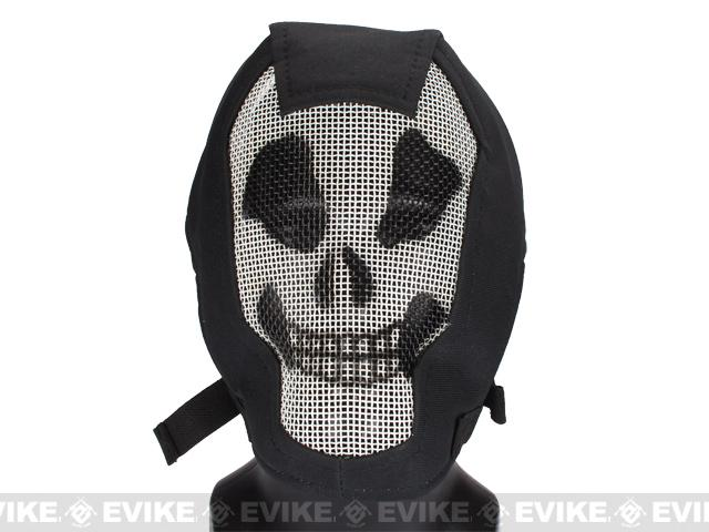 Matrix Iron Face Carbon Steel Striker Gen4 Metal Mesh Full Face Mask - Ghost