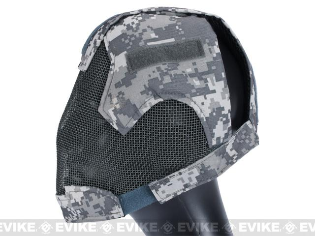 Matrix Striker Helmet Full Face Carbon Steel Mesh Mask / Helmet (Color: ACU)