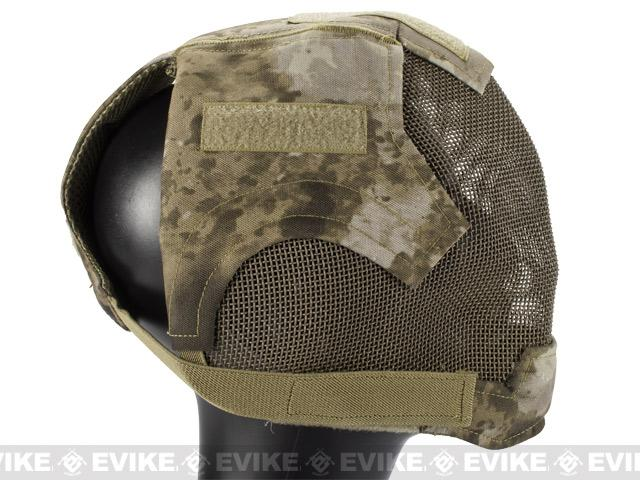 Matrix High Speed Striker Helmet Full Face Carbon Steel Mesh Mask Helmet - Arid Camo