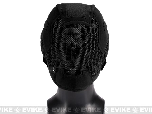 Matrix Striker Helmet Full Face Carbon Steel Mesh Mask / Helmet (Color: Black)