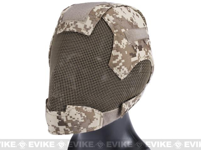 Matrix Striker Helmet Full Face Carbon Steel Mesh Mask / Helmet (Color: Digital Desert / Marpat)