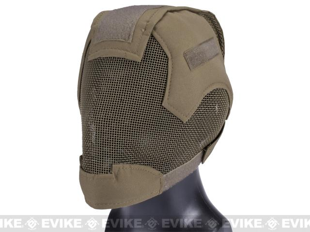 Matrix Striker Helmet Full Face Carbon Steel Mesh Mask / Helmet (Color: Dark Earth)