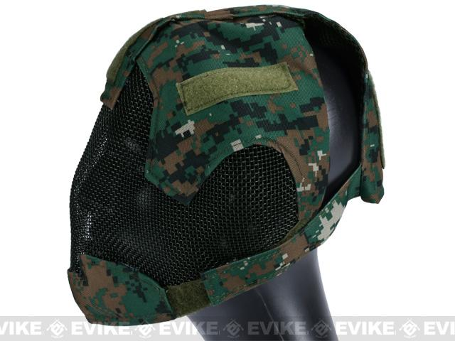 Matrix Striker Helmet Full Face Carbon Steel Mesh Mask / Helmet (Color: Woodland Marpat)