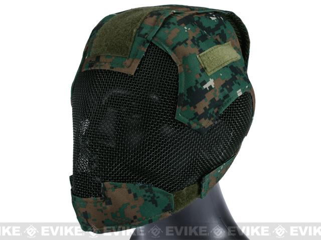 Matrix High Speed Striker Helmet Full Face Carbon Steel Mesh Mask Helmet - Woodland Marpat