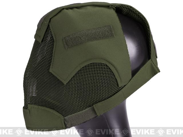 Matrix High Speed Striker Helmet Full Face Carbon Steel Mesh Mask Helmet - OD Green