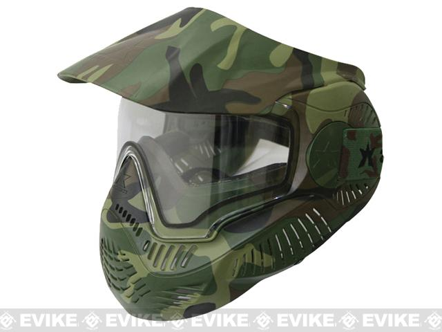 z Annex MI-7 Full Face Airsoft Paintball Mask with Thermal Lens - Woodland