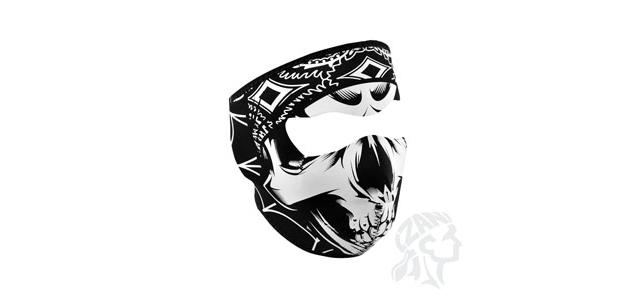 Zan Neoprene Full Face Mask - (Lethal Threat Gangster Skull)