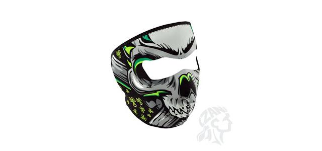 Zan Neoprene Full Face Mask - (Lethal Threat Biohazard Skull)