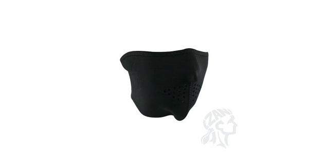 Zan Neoprene Oversized Half Face Mask - (Black)