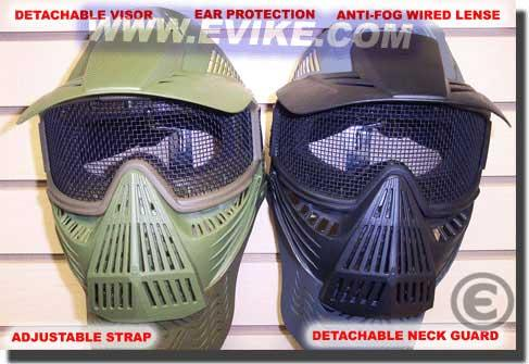 Mesh Transformer Modular Airsoft Mask w/ Visor & Neck Guard - Desert Tan